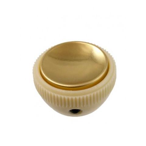 Vintage Hofner stijl Tea Cup knop met stelschroef goud met reflector
