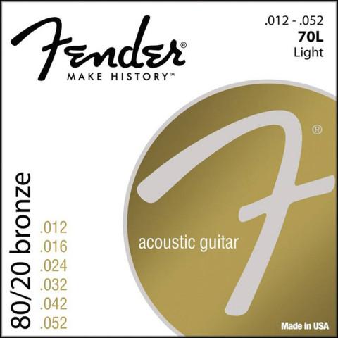 Fender 80/20 Bronze Wound akoestische snarenset light .012-.016-.024-.032-.042-.052