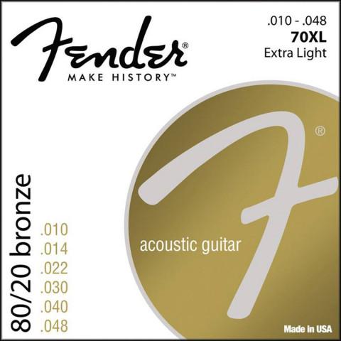 Fender 80/20 Bronze Wound akoestische snarenset extra light .010-.014-.022-.030-.040-.048