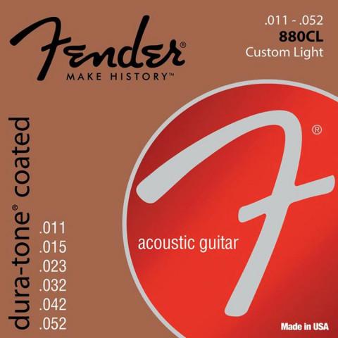 Fender Dura-Tone Coated 80/20 akoestische snarenset custom light .011-.015-.023-.032-.042-.052