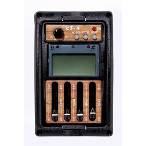 Active 3 band EQ met volume en presence knop én tuner piezo pickups
