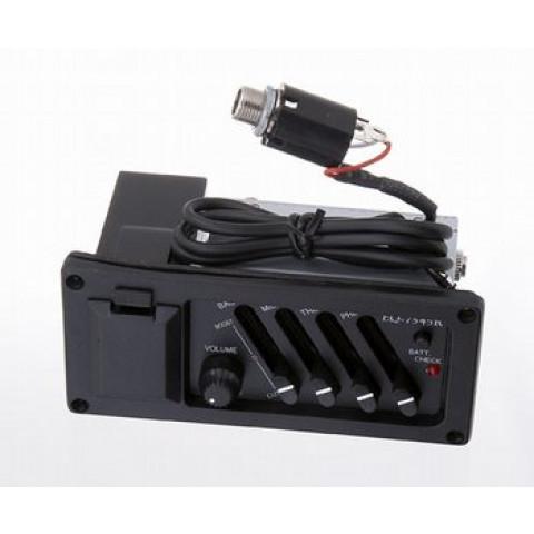 Active 3 band EQ met volume knop piezo pickups incl.batterij compartiment