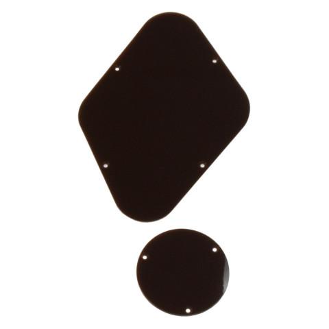 Achterplaat & schakelaar cover voor een Les Paul, bruin 1-laag