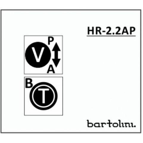 Bartolini HR-2.2AP/918 2 Band EQ 2 Pots: Treble/Bass Stack Volume met Pull-Bypass Switch