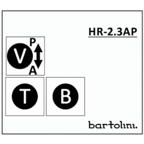 Bartolini HR-2.3AP/918 2 Band EQ 3 Pots: Bass Treble Volume met Pull-Bypass Switch