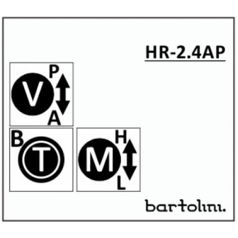Bartolini HR-2.4AP/918 3 Band EQ 3 Pots: Treble/Bass Stack Mid met 250/800Hz push-pull Volume met Pull-Bypass Switch