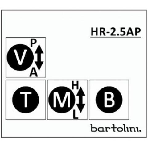 Bartolini HR-2.5AP/918 3 Band EQ 4 Pots: Bass Mid met 250/800Hz push-pull Treble Volume met Pull-Bypass Switch