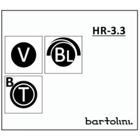 Bartolini HR-3.3/918 2 Band EQ 3 Pots: Treble/Bass Stack Blend Volume