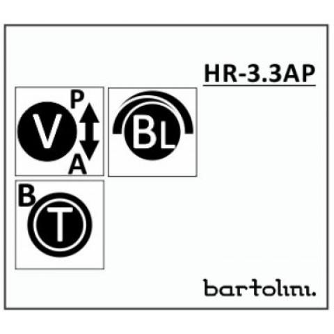 Bartolini HR-3.3AP/918 2 Band EQ 3 Pots: Treble/Bass Stack Blend Volume met Pull-Bypass Switch