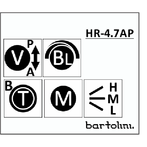 Bartolini HR-4.7AP/918 3 Band EQ