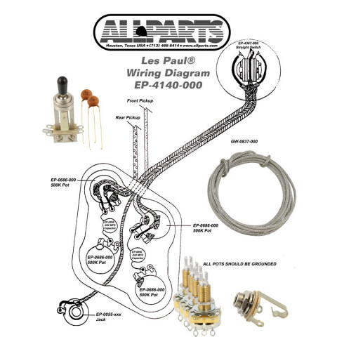 Wiring Kit Guitar on wiring diagram for les paul jr