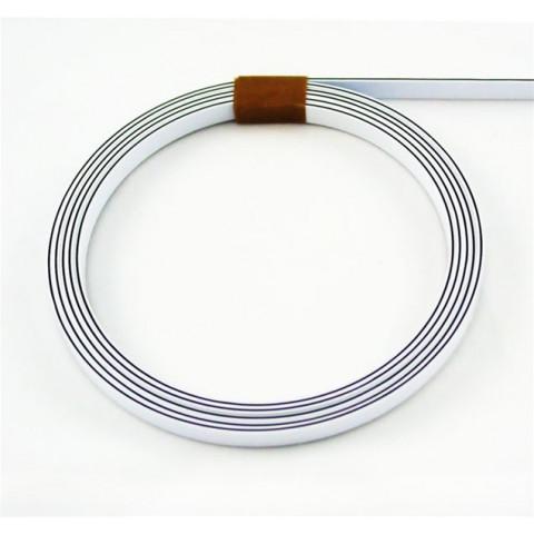 Binding 1,5mm x 6,4mm x 1,7mtr wit-zwart-wit