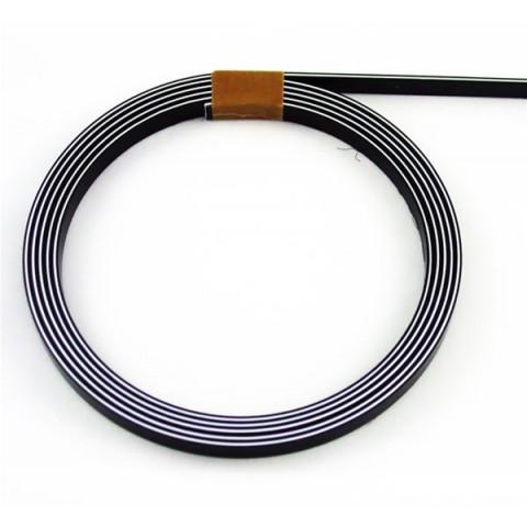 Binding 1,5mm x 6,4mm x 1,7mtr zwart-wit-zwart