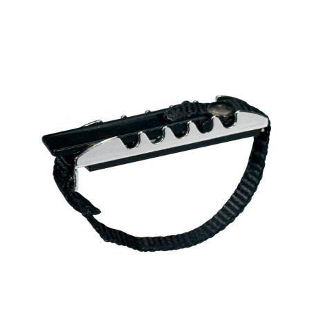 Capo klassieke gitaar met stelriem verchroomd