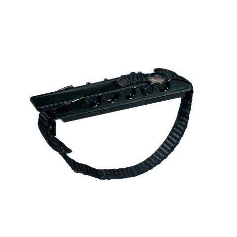 Capo klassieke gitaar met stelriem zwart