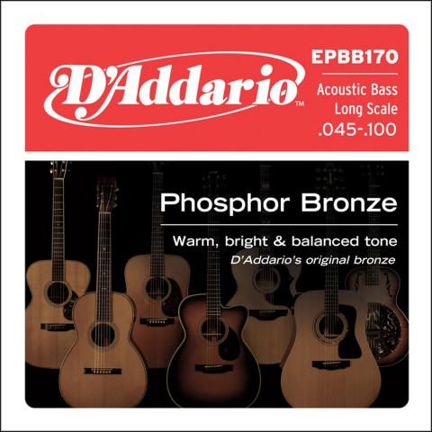 DAddario snarenset akoestisch basgitaar phosphor bronze 045-065-080-100 longscale