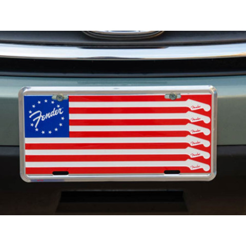 Fender Flag license plate
