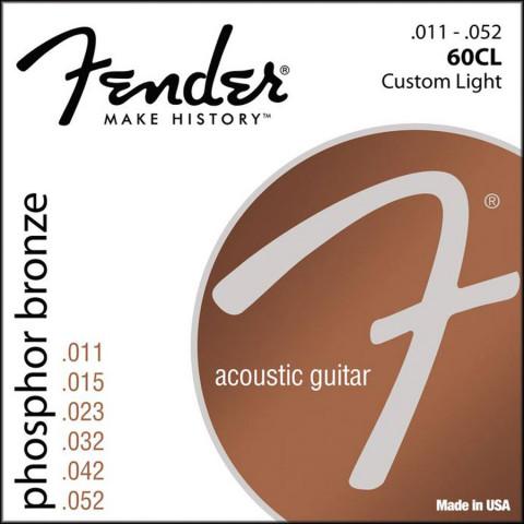 Fender Phosphor Bronze akoestische snarenset custom light .011-.015-.023-.032-.042-.052