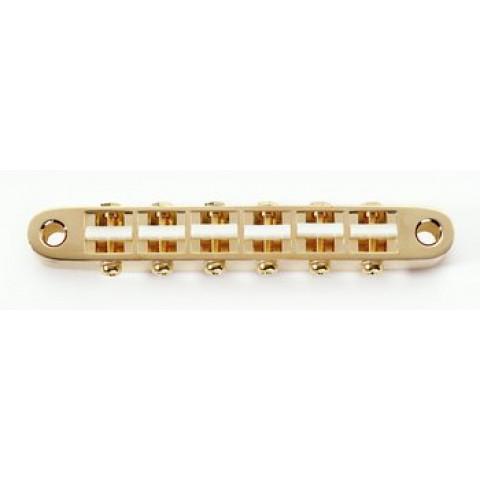 Gotoh smallle tune-o-matic met kunststof zadels goud