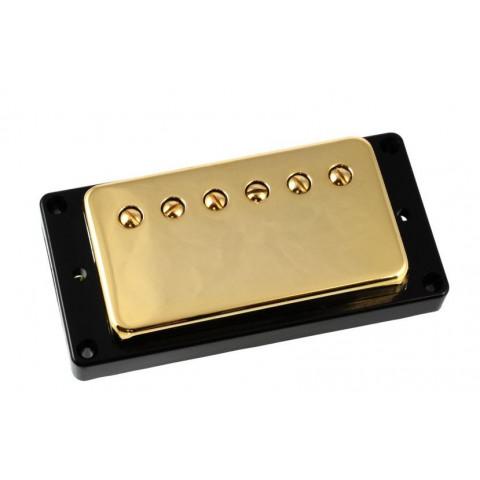 Humbucker met gouden cover en zwarte bevestigings ring 8.5K ohm