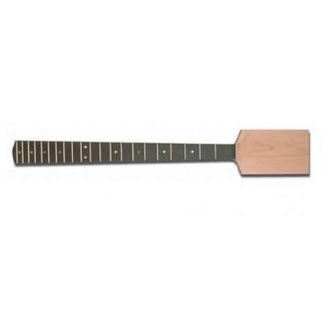 Vlakke onbehandelde Paddle Bass neck met ebben toets