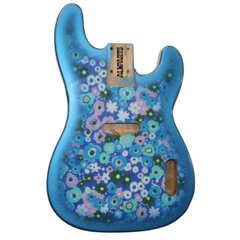 Licensed by Fender Telecaster Bass body Blue Flower