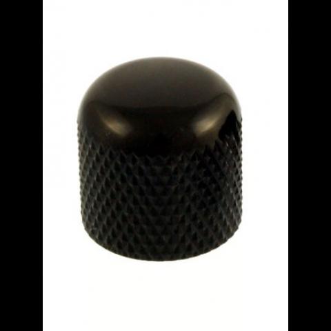 Metalen dome knop met stelschroef zwart
