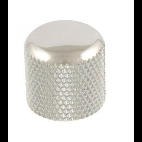 Metalen dome knop push-on chroom