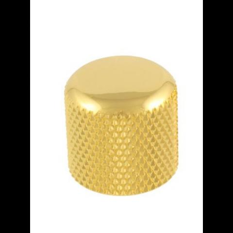 Metalen dome knop push-on goud