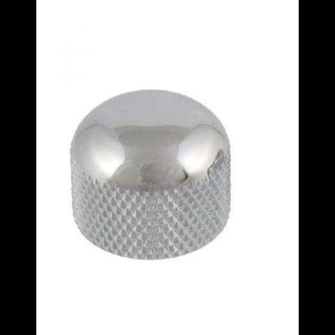 Metalen mini dome knop met stelschroef chroom