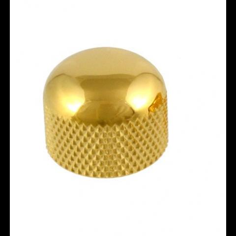 Metalen mini dome knop met stelschroef goud