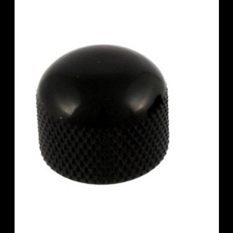 Metalen mini dome knop met stelschroef zwart
