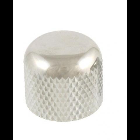 Metalen short dome knop met stelschroef chroom
