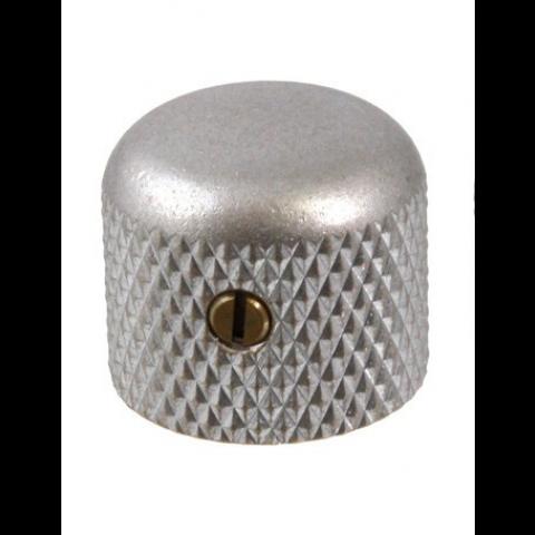 Metalen short knop met stelschroef aged chroom