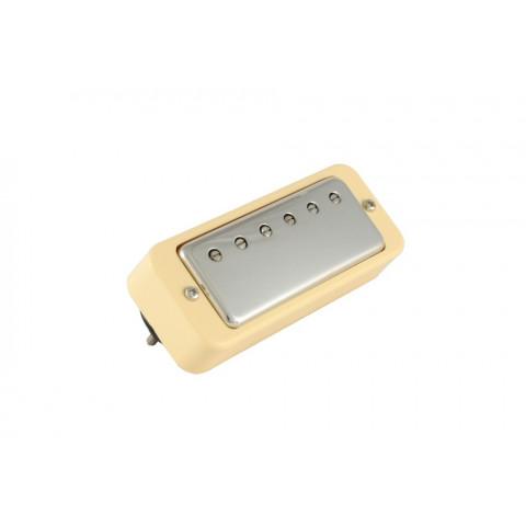Mini humbucker met verstelbare polen zwarte ring en nikkel cover 8.3K ohm