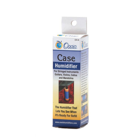 Oasis case humidifier with magnetic clip and syringe for normal dryness (25%-.40% ) environments