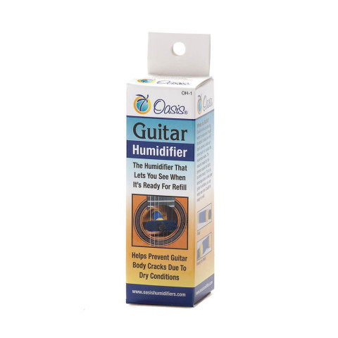 Oasis guitar soundhole humidifier Blue for normal dryness (25%-.40% ) environments