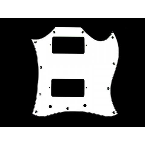 Full face slagplaat 3-laags voor Gibson SG (H/H) wit