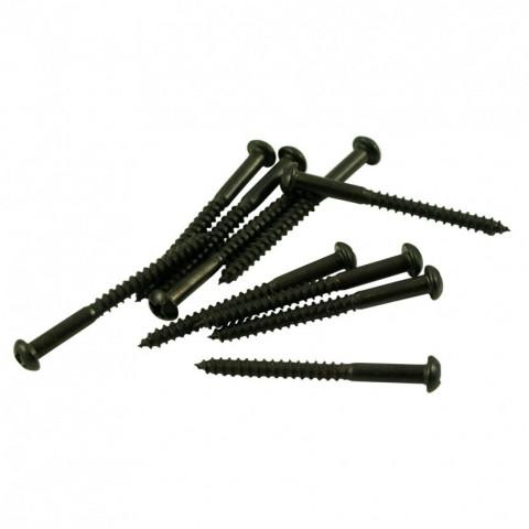 Pickup bevestigings schroeven voor de basgitaar, zwart, 31.8mm lang.