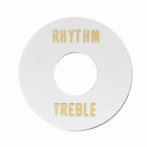 Rhythm-treble ring voor een toggle schakelaar wit kunststof