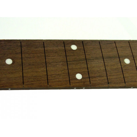 Rosewood toets met stip inlays 21 fret sloten zonder fretten en een 25 1-2 scale 65cm mensuur lengte