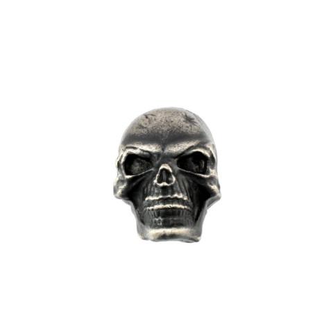 Skull knop push-on antiek chroom