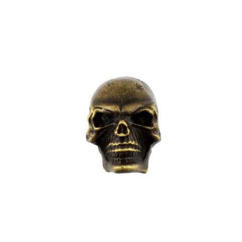 Skull knop push-on antiek goud