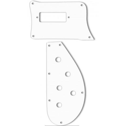 Slagplaat (2 delen) voor een Rickenbacker 4003 basgitaar,wit.