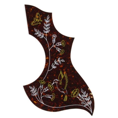 Slagplaat zelfklevend Hummingbird akoestische gitaar Tortoise