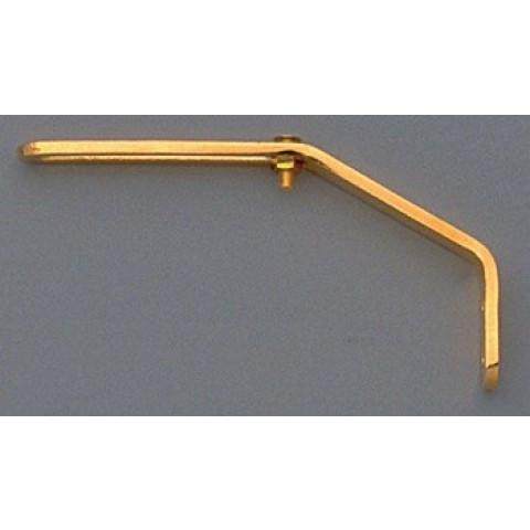 Slagplaatbevestigingsarm voor dikke arched-top gitaar goud