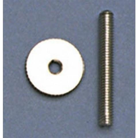 Studs en wiel set voor oude stijl tune-o-matic M4 x 19,1mm nikkel