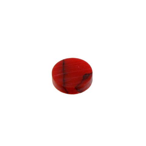 Toets inlay stippen 6,4mm red jasper stone