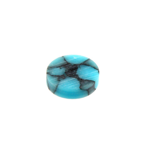 Toets inlay stippen 6,4mm turquoise stone