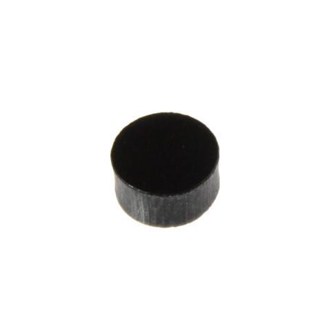 Toets inlay stippen 6,4mm zwart